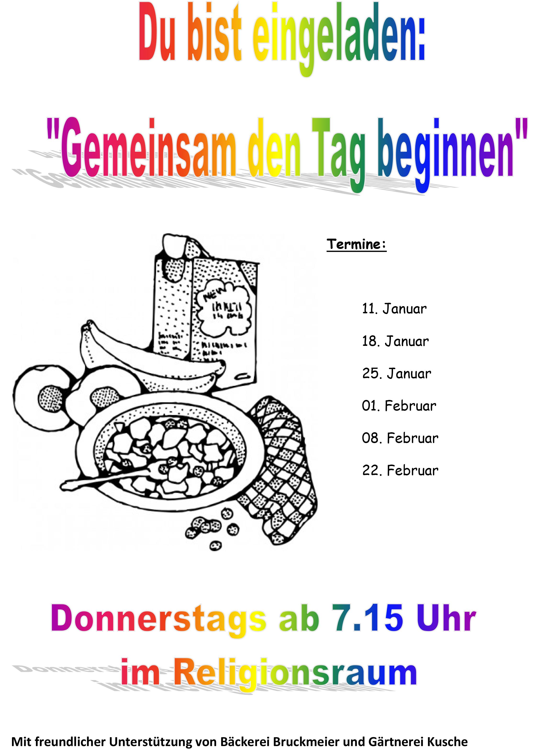 Plakat Schulfruehstueck 2018